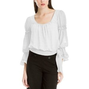 Max Studio London Women Bell Sleeve Blouse Top $88